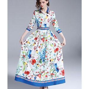 Kaimilan Rebecca Multicolour Print Maxi Dress